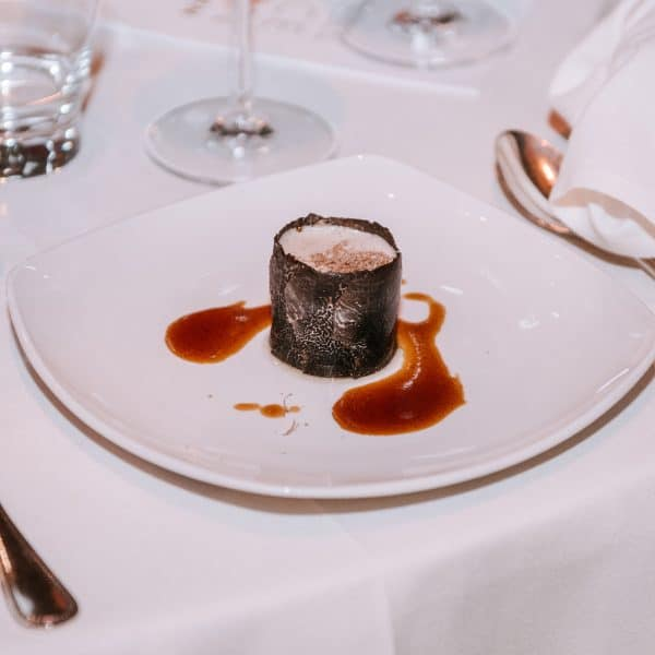 TRUFFLE SOUFFLE' WITH LOW-TEMPERATURE COOKED VEAL OYSTER BLADE – Chef Joan Roca