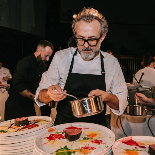 BEAUTIFUL, PSYCHEDELIC, SPIN-PAINTED VEAL, NOT FLAMED GRILLED – Chef Massimo Bottura